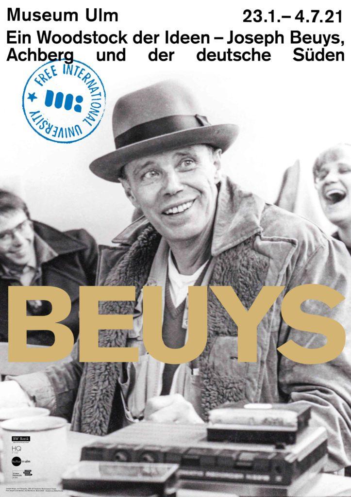 Plakat zur Beuys-Ausstellung
